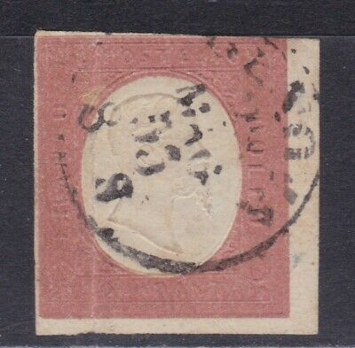 🇮🇹ITALY SARDINIA STATE 1854 STAMP • SCOTT No.9 • USED •