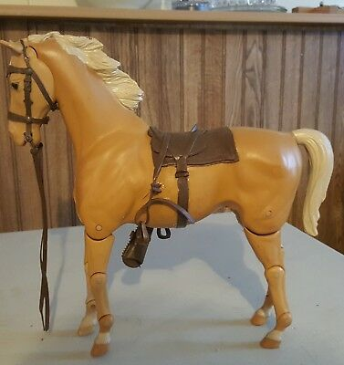 Marx Fort Apache posable light horse with tack No reserve auction