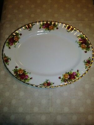 "Royal Albert Bone China Old Country Roses 13""x10"" Platter"