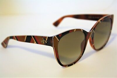 b427d1f7273 Gucci Geometrical multicolor Frame Two Tone 56mm Lens Sunglasses GG0097S NEW