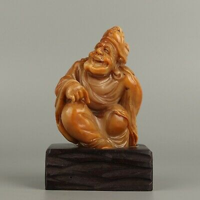 Chinese Exquisite Hand-carved Jigong Carving Shoushan Stone seal