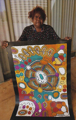 Marlene Young Nunga , Highly Collectible Aboriginal Art, 90cm x 60cm My Country