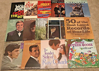 Lot of 14 Mixed Various Easy Listening Classic Artist Vintage Vinyl Records
