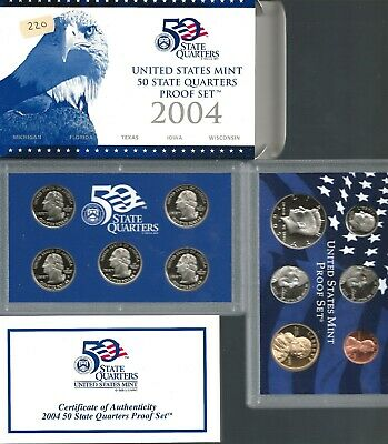 Lot of (2) 2004 US Mint Proof Sets (11 coins) *NO RESERVE*