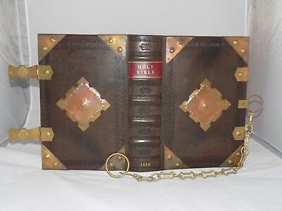 1629 King James Holy Bible Lectern Folio, Chained And Armoured Binding,complete