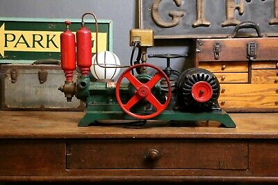 Antique PAUL WATER SYSTEMS Water Pump Steam Punk Industrial Tool Hit Miss Pulley