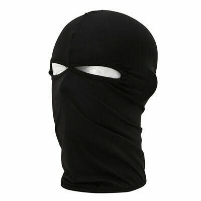 Lycra Balaclava Full Face Mask With 2 Holes Motorcycle Balaclava Running Mask