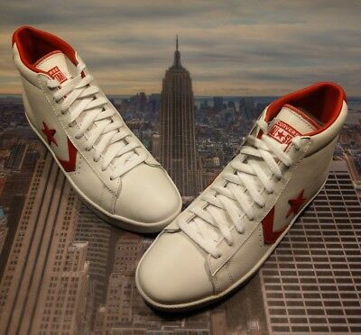 239ddc120b31f5 Converse Pro Leather Mid Top White Varsity Red Men s Size 10 136760c New