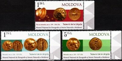 MOLDOVA 2018-08 Archaeology. Ancient Gold Coins, MNH