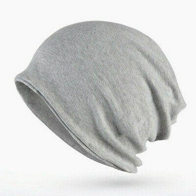 2018 Solid Color Unisex Men Women Skullies Beanies Hedging Cap Cotton Double