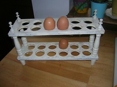 Vintage Wooden 24 Egg  Rack