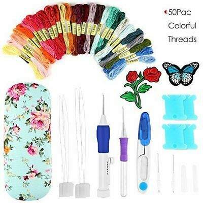 Magic Embroidery Pen Punch Set Craft Tool DIY Needles Easy Use Apply to Clothing