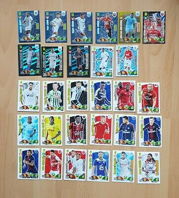 Lot 28 Cartes Card Adrenalyn Xl Panini Football Ligue 1 2018 2019 Neymar Payet