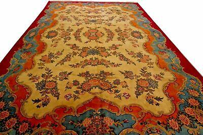 Antique Islamic Art Qajar Signed & Dated Persian Royal Large Carpet 1251 Kashan