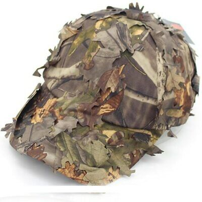 New 3D Hunting Cap Sneaky Woodland Leaf cap Leafy Woodland Camo Hat Reel Tree