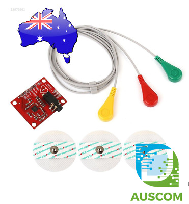 Single Lead AD8232 Double Poles Pulse Heart Monitor ECG Sensor Arduino Kit