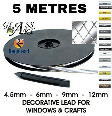 5 metres self adhesive lead strip tape for windows glass crafts REGALEAD tool