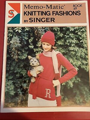 Singer Memo- Matic Knitting Fashions By Singer. Book 49.