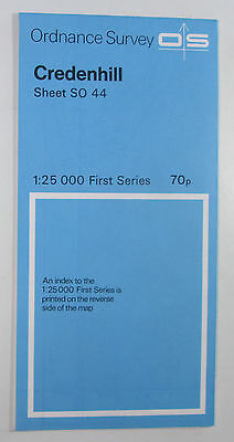 1960 old vintage OS Ordnance Survey 1:25000 First Series Map SO 44 Credenhill