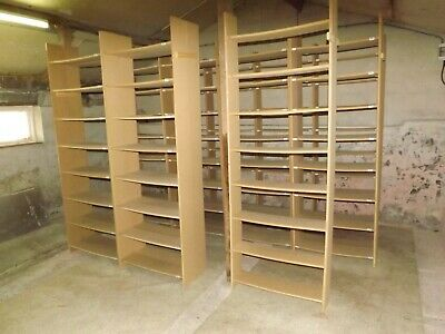 17 MDF commercial bookcases - suit internet book seller / book collector etc.