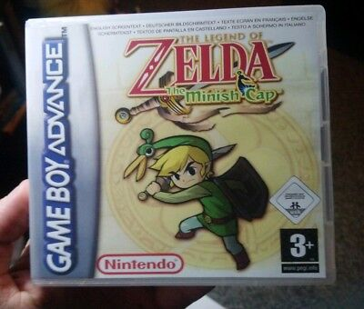 Nintendo Game Boy Advance GBA Replacement Case Th Legend of Zelda The Minish Cap