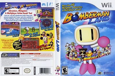 Nintendo Wii Replacement Game Case and Cover Bomberman Land