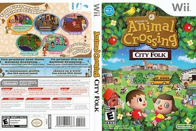 Nintendo Wii Replacement Game Case and Cover Animal Crossing: City Folk