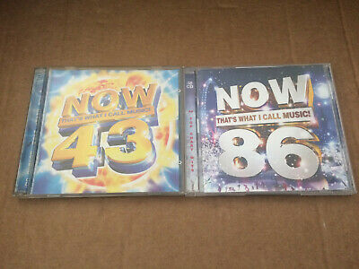 NOW That's What I Call Music 43 & 86 Double CDs - Job lot - Various