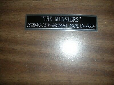 """""""the Munsters"""" Engraved Nameplate For Photo/display/poster"""