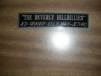 """""""the Beverly Hillbillies"""" Engraved Nameplate For Photo/display/poster"""