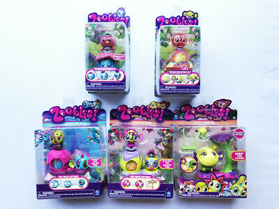 Zoobles -5 x Spring To Life Figures & Collections - New