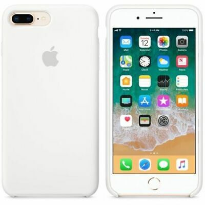 WHITE, GENUINE OFFICIAL ORIGINAL Apple Silicon Case iPhone 7 8 Plus RRP $39