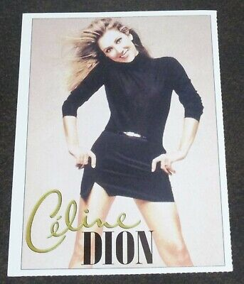 Celine Dion and U2 Picture Card 2 Sided 1999 RARE!