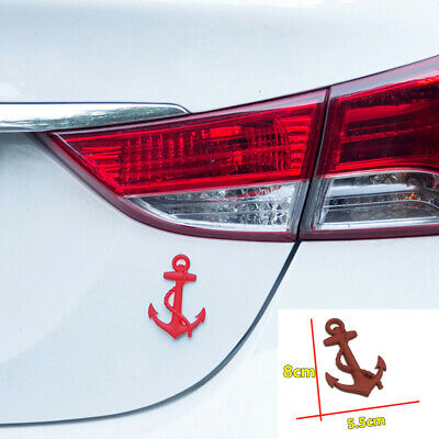 Car Sedan Red Metal Anchor Pattern Decal Emblem Badge Tailgate Rear Door Sticker