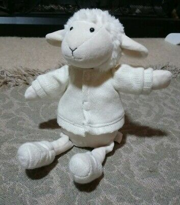 Jellycat sheep lamb with knitted jacket and booties
