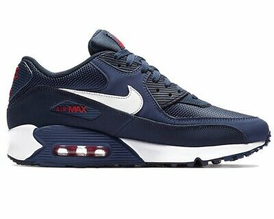 huge selection of 16afa e62df Nike Air Max 90 Essential AJ1285 403 Mens Trainers Navy Gym Running Shoes