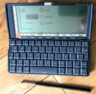 Psion 5 with leather case