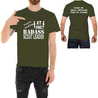 2bd84e25 Badass Scout Leader T-shirt Funny Ideal Father day Birthday Gift for Him