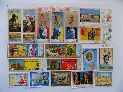 Middle East Coll'n of stamps off paper-2-6-some large pictorials