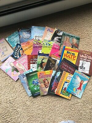Huge Bulk Lot of 25 Children's Kids Chapter Books Instant Library Unsorted lot