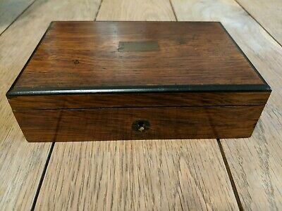 Antique Wooden Trinket Box with tray needing relining with lovely patina