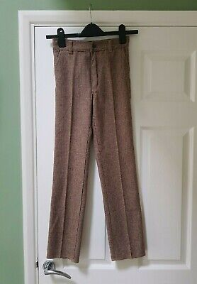 Retro vintage dead stock SAN GIUSTO children's trousers pants brown tweed