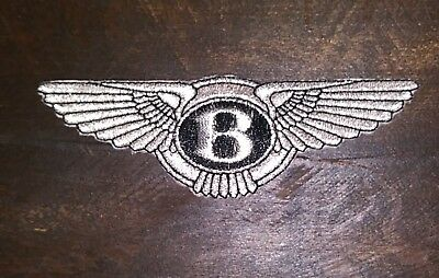 BENTLEY  AUTO CAR  iron on 100% embroidered patch patches luxury applique CREST