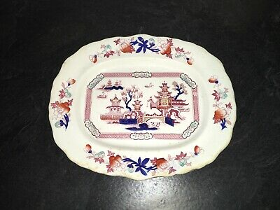 "B & L England Tonquin Small Platter; Early Stamp; 11"" x 9"""