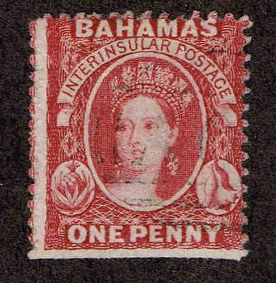 Bahamas # 8a  Queen Victoria 1862.  Used