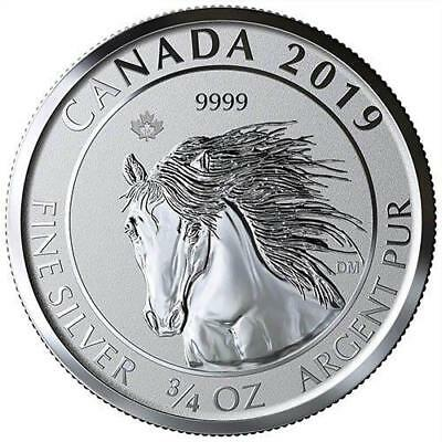 2019 3/4 oz Canadian Silver Wild Horse Reverse Proof Coin