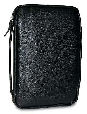 Bible Cover Midnight Black Genuine Leather MD