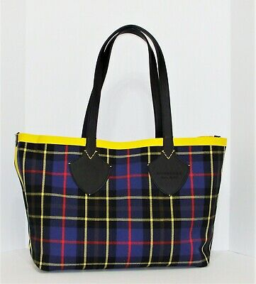 5a927636884c Burberry Medium Giant Reversible Tote in Vintage Check with Calf Leather  Trims
