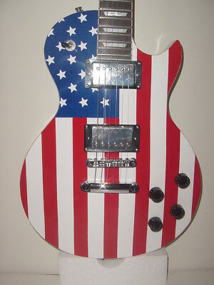 Stedman Pro 6 String  Electric Guitar LP Red White Blue US American Flag