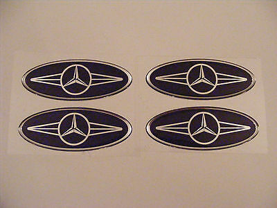 MERCEDES BENZ - HEADREST/SEAT DECALS -3D Vinyl Stickers  Logo badge NEW DESIGN